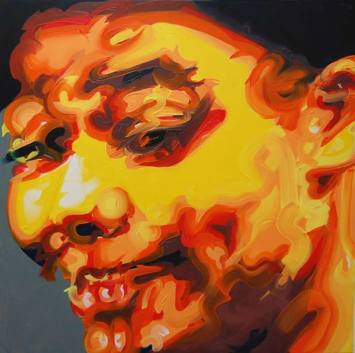 Blithe Youth, Oil on canvas, 100cm x 100cm, 2011
