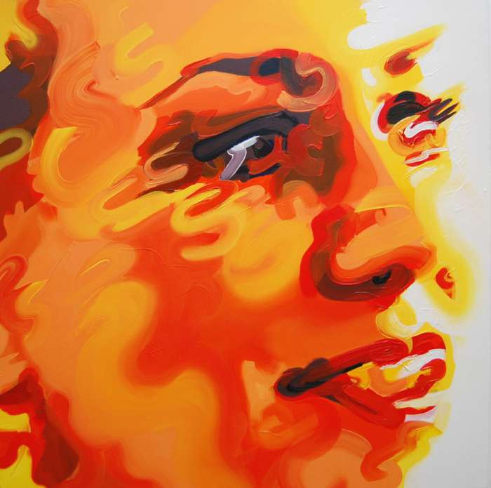 Gorgoeus Girl, Oil on canvas, 100cm x 100cm, 2011