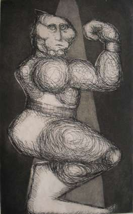 Strong Man, Etching