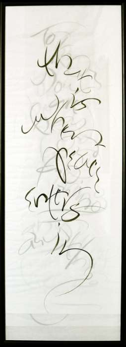 \'Peace\' - Text by S. Beckett - Sumi ink on rice papers
