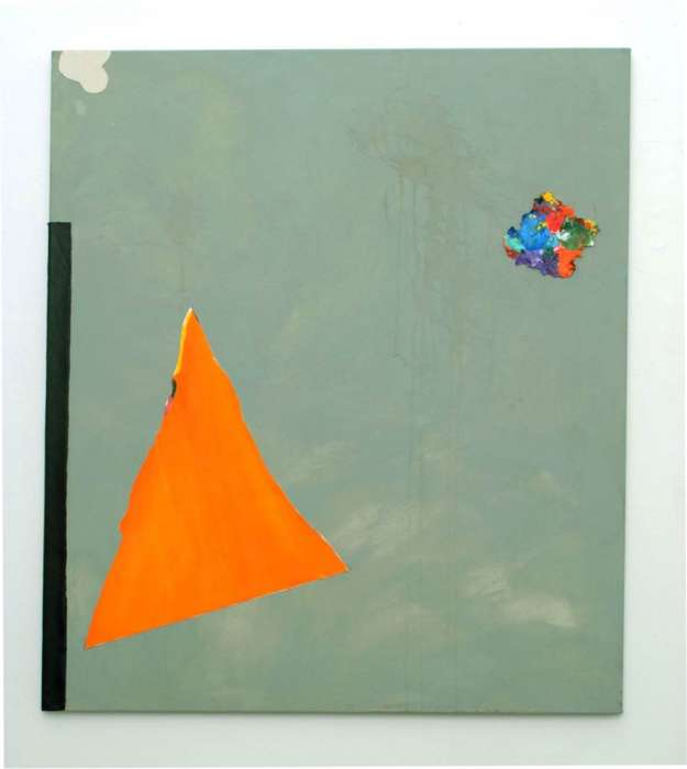 Untitled, 2011 Acrylic, tea and canvas pieces on canvas, 120 x  105cm