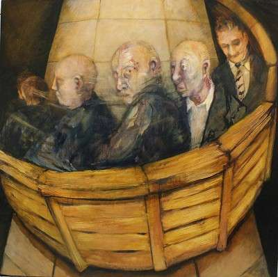 Ship of Fools, oil on canvas, 2010, 90x90cms,(Private collection)