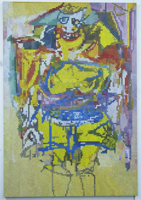 Woman 2 (after de Kooning); oil on canvas; 160x110; 2016