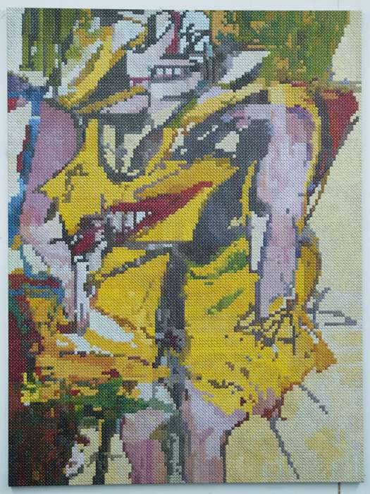 Woman 1 (after de Kooning); oil on canvas; 160x120; 2016