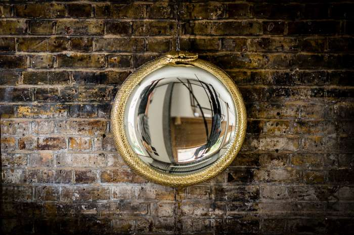 Ouroboros Mirror - carved and gilded lime wood