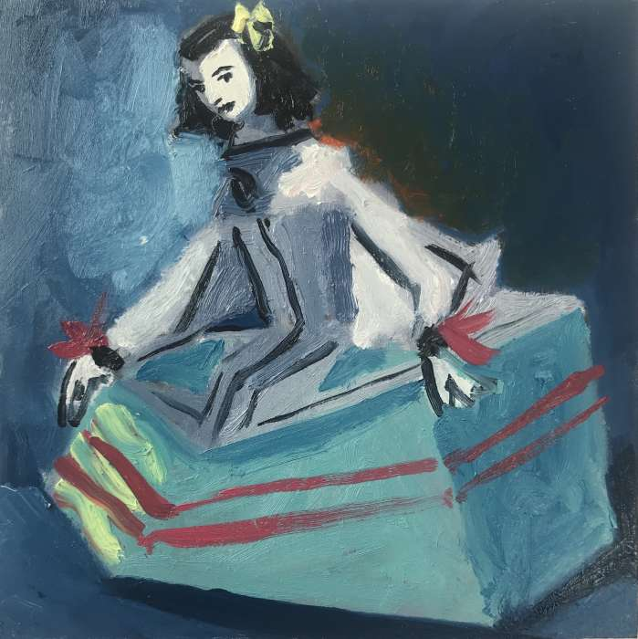 Mint Menina (after Velazquez), 2019, 15x15cm, oil on board