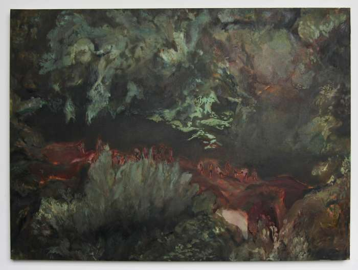 Untitled (Figures in Landscape) 2010. Oil on Canvas